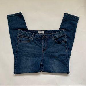 Free People High Waist Knee Distressed Jeans 31